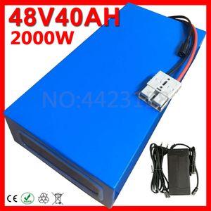 48V 1000W 1500W 2000W Аккумулятор 48V 30Ah 32AH 35AH 40Ah Ebike батарея 48V 35AH электрический самокат батареи с BMS 54.6V 5A зарядное устройство