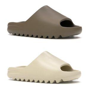 2021 slide kanye west diapositive ovest uomini donne pantofole Deserto Bone marrone terra Ararat schiuma corridore triple nero mens diapositive sandali beach hotel