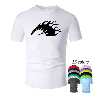 Cool Car Tachometer Line Art O Neck Cotton T Shirt Men and woman Unisex Summer Short Sleeve Designed Casual Tee m01100