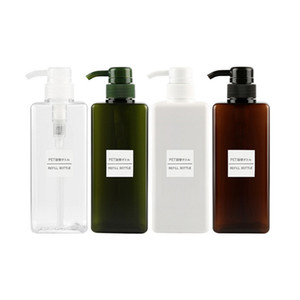 650ml Dropship Plastic Empty Pump Dispenser Bottle Hair Beauty Shampoo Lotion Shower Gel Travel Refillable Bottles Container