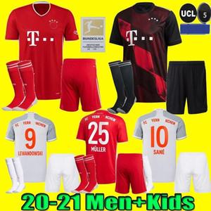 Hombres + kids kit 20 21 SANE Lewandowski Bayern Gnabry camiseta de fútbol 2020 2021 camisa del jersey de fútbol Múnich NIANZOU MUNCHEN uniforme