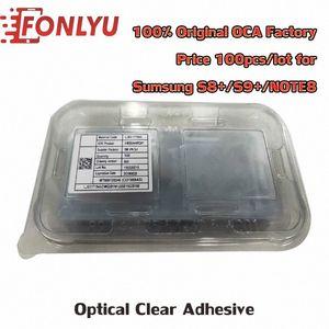 100шт 100% Оригинал ПЦА 100um Optical Clear Adhesive наклейка для Samsung S8 + S9 + Note8 Клей Сенсорное стекло объектива Фильм S5fz #