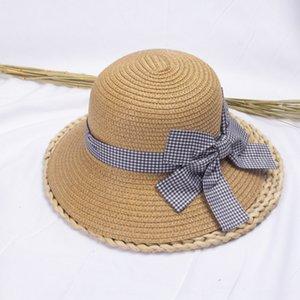 Bebek Kepçe Straw miğfer kız Yaz Straw kadın yaz Prenses güneş çocuklar balıkçı şapka ebeveyn-çocuk güneş şapkası toque
