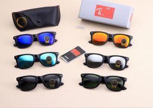 ray ban bans ben forma dos homens de raios mulheres óculos de sol populares sol eyeware óculos lentes de protecção de vidro UV com couro livre venda quente caso proibições 2140