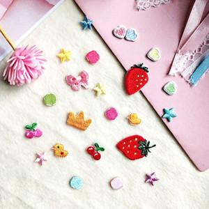 20200817 Mini patch di stoffa Fragola Cherry stelle ricamo sacchetto pattini e vestiti decorazione di DIY autoadesivo