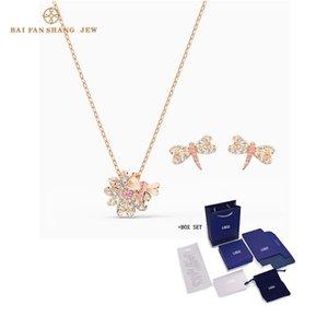2020 Bijoux Fashion SWA Nouvelle ÉTERNEL FLOWER Set Dragonfly Charm DRAGONFLY Daisy Delicate cristal or rose femmes luxe Bijoux