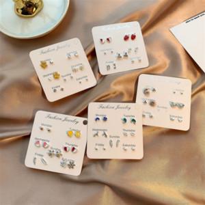 cristallo ago argento intarsiato S925 wmvcI breve carino giapponese e coreano elegante versatile semplice di una settimana di cristallo Earringsearrings e orecchini