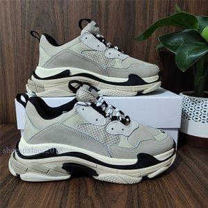 Paris 17W Mens baratos calçados casuais Discount confortável Triple S Casual Sneakers Mulheres Moda Atlético Sport Shoe Shoe Walking Outdoor