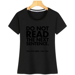 Não leia mulheres camisetas Cute Designs algodão O-Neck Humor