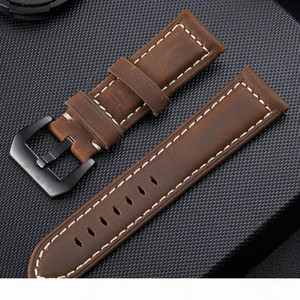 For PaNer Watchband Soft Genuine Leather Luxury Watch Strap 20mm 22mm 24mm 26mm Watch Band Strap Accessories Wristband Good Quality