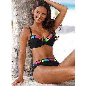 TYAKKVE sexy 2019 Set Swimwear donne della stampa del costume da bagno spinge verso l'alto pois bikini Plus Size bathingsuit Beachwear Biquini 3XL