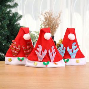 Fabricants Vendre Noël Décorations de Noël Chapeau Père Noël Cap Antler Cap Cartoon enfants New GJ8E #