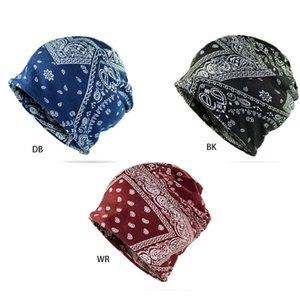 Para mujer de Paisley de la impresión floral Pérdida Slouchy Beanie bufanda Infinity pelo de Chemo del cáncer del cráneo del sombrero del sueño Cap multifuncional Headwear
