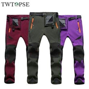 TWTOPSE Winter Waterproof Cycling Pants Men Women Thermal Sports Trousers MTB Bike Bicycle Pants Windproof Warm Fleece Pant 2020
