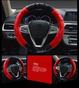 Winter Warm Soft Plush Car Steering Wheel Cover Braid On The Steering-wheel Winter Warm Covers Car Styling Interior Accessories