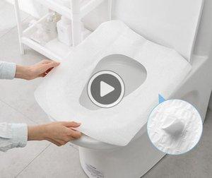 ig-Qlity de Disposale otel toilettes Cusion Papier Voyage Portale-pie simple collage Ensemble toilettes er toilettes Seat Mat Houx