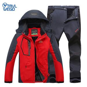 TRVLWEGO excursión al aire libre juego de los hombres de a prueba de viento impermeable térmica Snowboard Nieve Esquí JacketPants juego de los deportes de invierno ropa