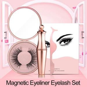 Magnetic Liquid Eyeliner & Magnetic False Eyelashes & Tweezer Set Waterproof Long Lasting Eyeliner False Eyelashes 1