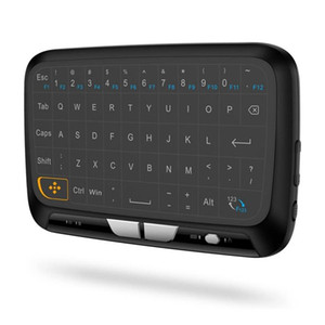 H18 2.4GHz Full Touchpad Keyboard Wireless Keyboard Mouse Mode Remote Control with Vibration Feedback for Smart TV