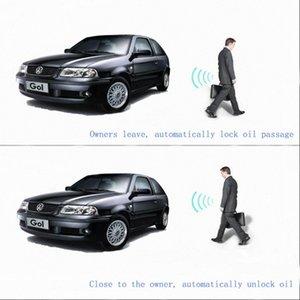 Construit en système de verrouillage sans clé d'entrée à distance Starlionr Système d'alarme de voiture Elechic caché voiture Control Engine Start / Stop Butto oLmV #