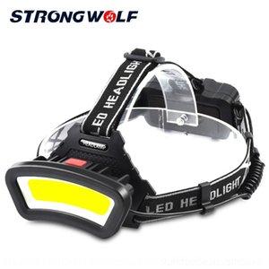 Neue Arbeitsarbeitslampe große Lade C0B Licht Head-Mounted-Grubenlampe USB Outdoor-Camping Fischen Flutlicht multifunktionale bdnpg tragen