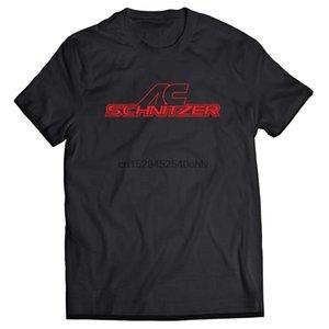 موضة جديدة AC شنيتزر ضبط علامة تجارية أسود تي شيرت