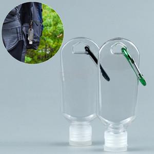 50 ML Boş Alkol Doldurulabilir Şişe Anahtarlık Kanca ile Temizle Şeffaf El Temizleyici Boş Şişe Taşınabilir Sanitizer Şişeler BH2719 TQQ