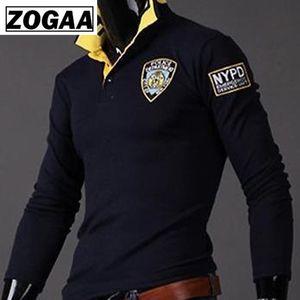 Zogaa 2020 heiße Verkaufs-Mann-Hemd Umlegekragen Männer Shirts Männer Mode für Männer dünnen beiläufigen dünnen langen Langarm