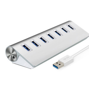 7 Порт USB3.0 HUB Кабель Штекер Высокоскоростной адаптер Легкосплавные концентраторы для ПК Жесткий диск USB Flash Drive Card Reader Мобильный телефон камеры
