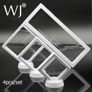 PET Elastik Membran Kolye Küpe Yüzük Charm Bileklik Jade İnci Takı Seti Görüntü Vitrin İzle Standı Tutucu 4pcs / set