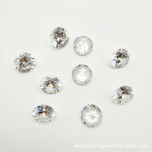 nOqLD piedra redonda blanca suelta de diamantes pequeña 3a Ronda de circón dio a luz blanca zirconi pequeña multa 3a circón piedra desnuda de circonio simulación arti ozeQz