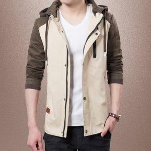 Vestes Casual de KIBY Marque Hommes solides Hommes Patchwork Slim Fit Manteaux Homme Survêtement Veste de sport Printemps Automne Nouveau T200905