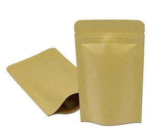 9 * 14cm Doypack della carta kraft Mylar Storage Bag Stand Up di carta di alluminio per tè biscotto pacchetto del sacchetto di trasporto