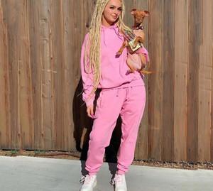 2020 Mode Femmes 2 Piece Set vêtements à capuche et Pantalon Survêtement Automne Hiver chaud Vêtements de sport Survêtement Casual Tenues les plus récents LY922