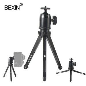 Mini tripod dslr kamera standı noktası kamera için telefon klibi ile adaptör masaüstü braket fotoğrafçılık çekim cebi tripod montaj