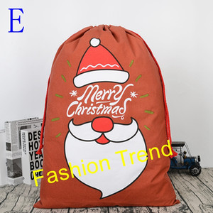 100pcs lot 5 Styles cheap price big discount Personalized Merry Christmas Santa Sack