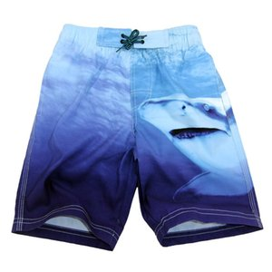 Free Shipping Fashion Pants Lovely Baby Summer Infant Kid Boys Shark Print Loose Beach Pants Outfits Casual Clothes Z0129