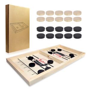 표 하키 게임 패밀리 테이블 보드 게임 투석기 체스 부모 - 자녀 상호 작용하는 장난감 빠른 슬링 퍽 게임 아이스 하키 게임 CX200818