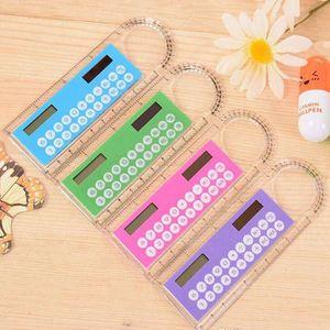 Mini Portable Solar Energy Calculator Creative Multifunction Ruler Students Gift