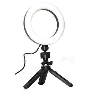 Dim Cep Telefonu Selfie Işık Tripod Standı Yüzük Dolgu Işık Ayarlanabilir Tripod Masaüstü Işıkları Makyaj Yayınları Canlı Çevrimiçi Öğretim