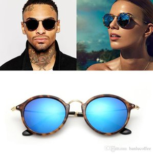 Neue 2018 Art und Weise klassische Vinatge runde Art-Sonnenbrille Männer Frauen Brand Design Sonnenbrillen Oculos De Sol Gafas