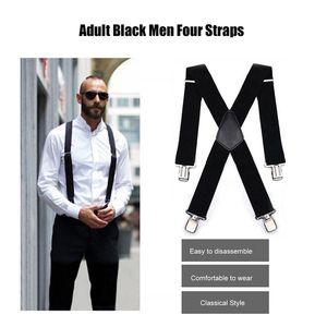 New aviation Mens Trouser Suspenders Vintage Men Suspenders 4 Clip Strap Braces for Trousers Suspenders Men Pants Bretels Mannen