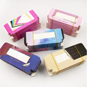Eyelash Boxes Rectangle Clear Marbling Without Tray Case Foldable Muti Color Cosmetic Packaging Box Lady Gift 1 2ye G2