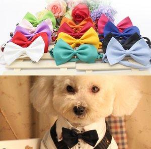 STOCK الحيوانات الأليفة التعادل القطة الكلب التعادل زهرة الياقة اللوازم اكسسوارات الديكور اللون النقي BOWKNOT ربطة العنق قطرة شحن