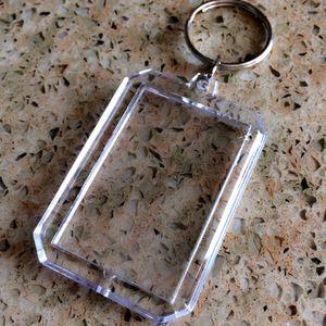 Octagonal kreative Werbung Acryl-Fotorahmen Anhänger Schlüsselanhänger Anhänger Schlüsselanhänger