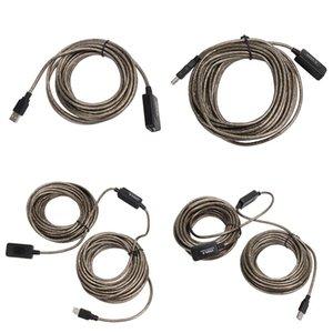 Cgjxssuperspeed USB 2 .0 Extension Cable 5m / 10m / 15m / 20m ripetitore maschio a femmina M / F incorporato -In Ic doppia schermatura di alta qualità