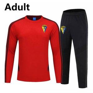 2020 Cadiz FC homens treinamento de futebol terno sportswear jaqueta de futebol survêtement correr Futebol sportswear kit Fatos longo da luva dos homens