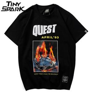 2020 Summer Mens T Shirts Hip Hop Burning Ice T-Shirt Short Sleeve Casual Cotton Tops Tee Fashion Streetwear Tshirt Fire Hipster 0924