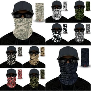 120PCS Открытый верхом волшебного шарф солнцезащитного крема галстук красителя многофункциональной пыленепроницаемого СПОРТИВНОЙ головного убора камуфляж маска дизайн маска T500113