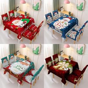 الديكور مفرش المائدة عيد الميلاد كرسي الغلاف الخلفي البوليستر السنة الجديدة عيد الميلاد للماء مفرش المائدة حزب طاولة مستطيلة يغطي DHD761